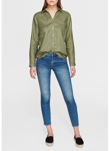 Mavi Cepli Gömlek Yeşil